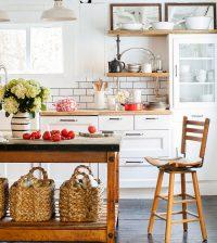 Открытые полки для кухни будут стоить дешевле чем закрытые