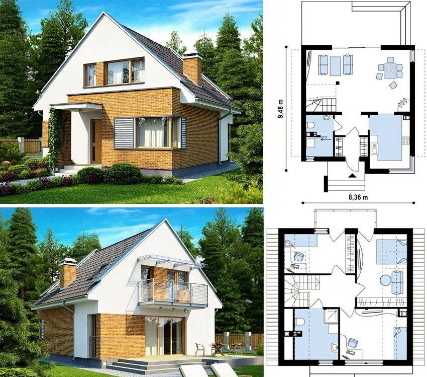 Современные здания предусматривают наличие жилых комнат и под кровельным пространством