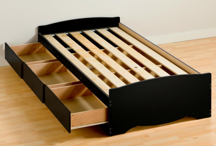 Чем больше ламелей имеет каркас кровати, тем больший вес он способен выдержать
