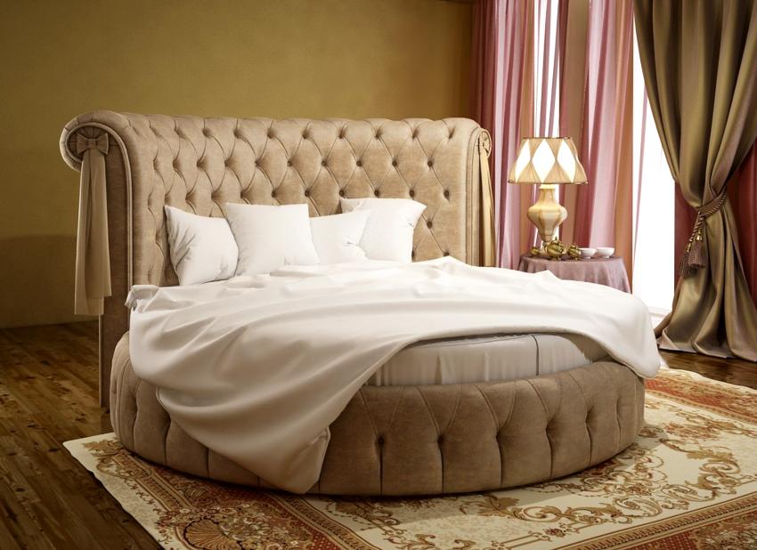 Очень популярными являются круглые, овальные и подвесные варианты кроватей