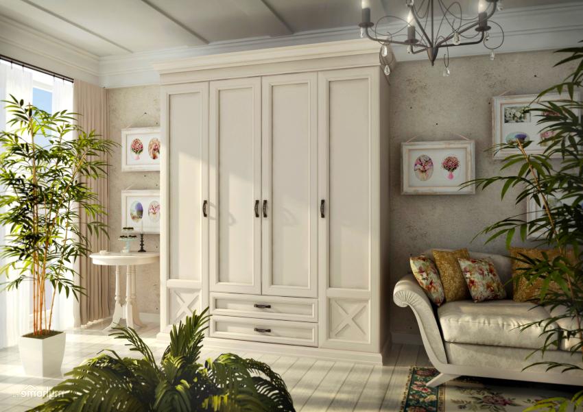 Шкафы в стиле прованс бывают одно-, двух-, трех- и даже четырехстворчатыми