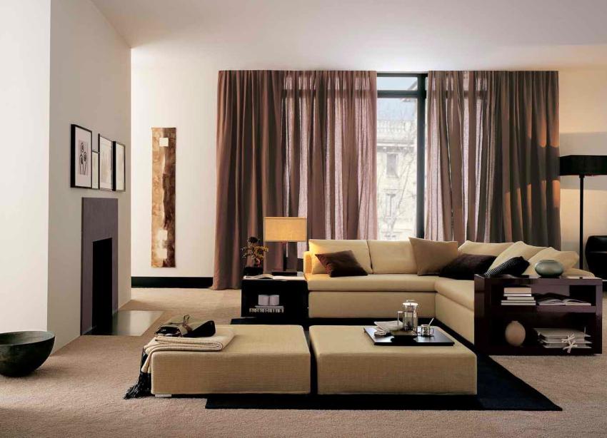 Мебель в стиле хай-тек должна быть компактной и иметь много встроенных функций и опций