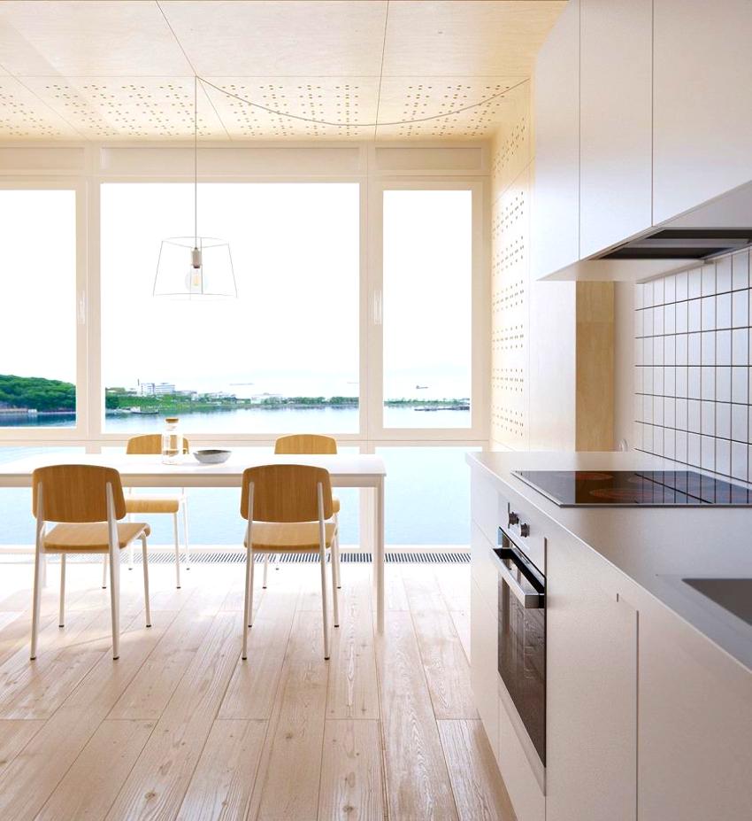 Гладкие фактуры, прямые линии и однотонные цвета – основные черты кухни в стиле минимализм