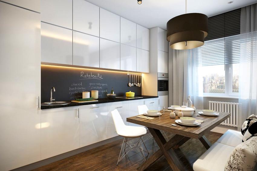 Строгий дизайн, где все на своем месте – это очень важно для кухонь в стиле минимализма