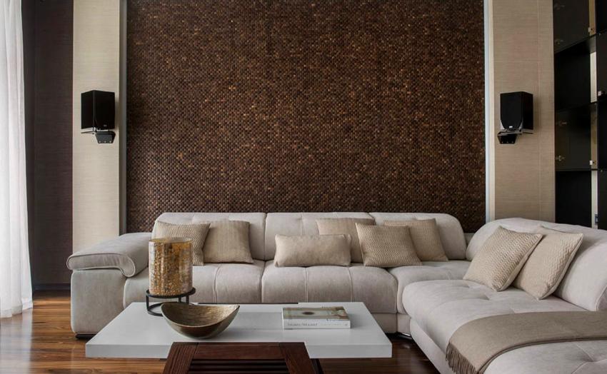 В минимализме разрешается использование как натуральных, так и искусственных материалов