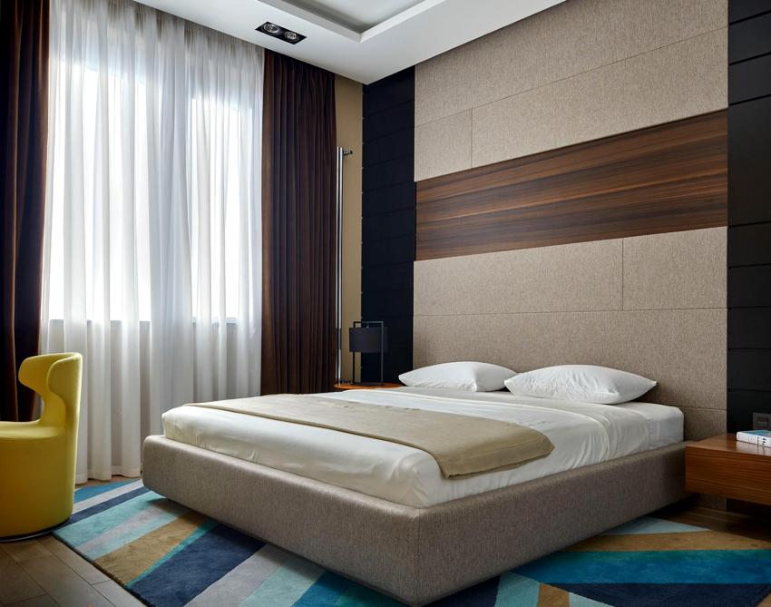 Лаконичная форма – главная черта кровати в стиле минимализм
