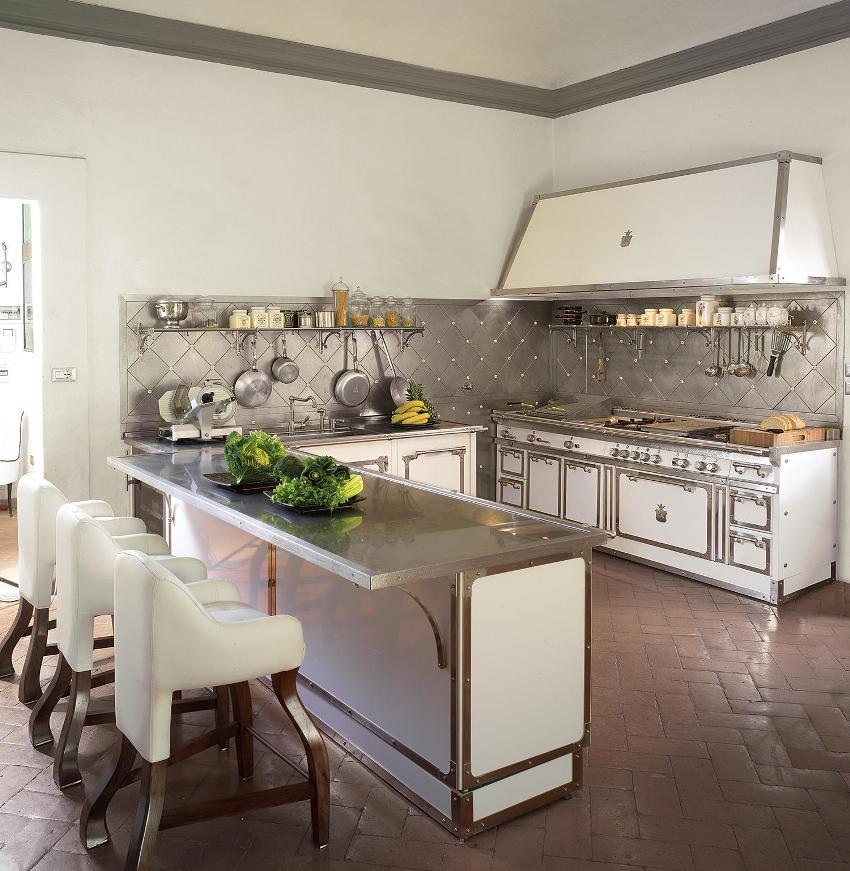 Кухня в стиле неоклассика – это старое направление в современном исполнении