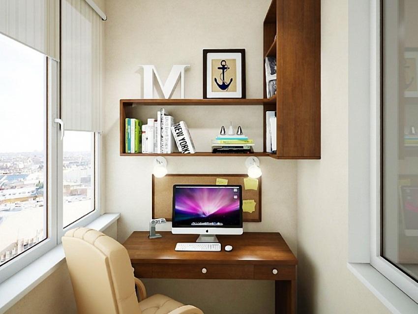 Одним из главных особенностей угловой полки над письменным столом, является, то чтобы она находилась в свободной досягаемости для пользователя