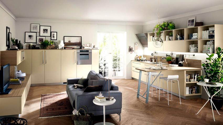 Кухонные диваны, работающие по типу французской раскладушки, являются очень популярными