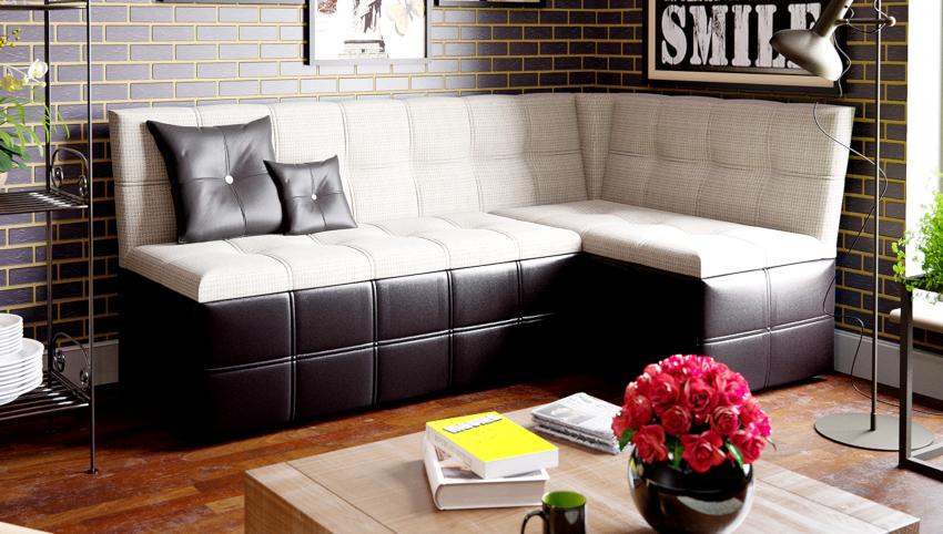 Существует два типа угловых диванов, с острыми и со сглаженными углами