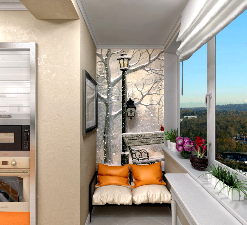 При отделке потолка на лоджии или балконе наиболее часто используют гипсокартон