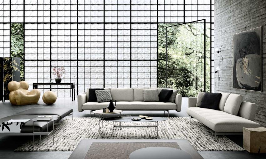 Комбинируя фактуры и оттенки обоев, можно создать уникальный дизайн интерьера гостиной
