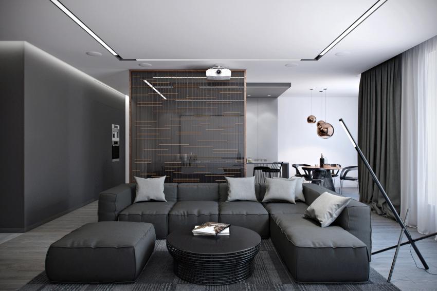 Для отделки помещения в стиле хай-тек отдается предпочтение преимущественно искусственным материалам