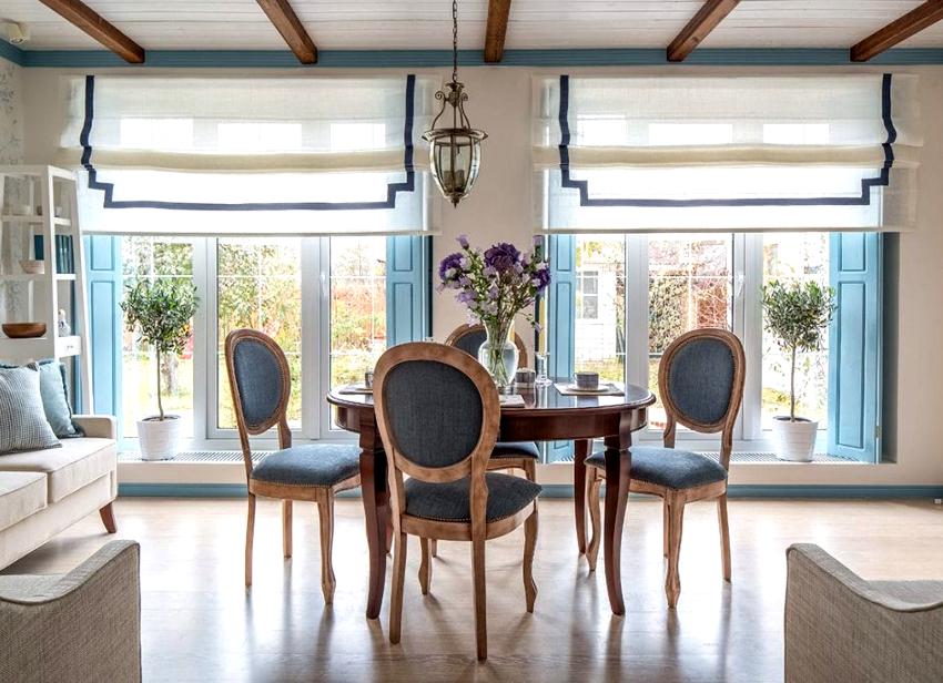 В стиле прованс преимущественно используются белый, молочный, лавандовый, оливковый, бирюзовый и светло-голубой цвета