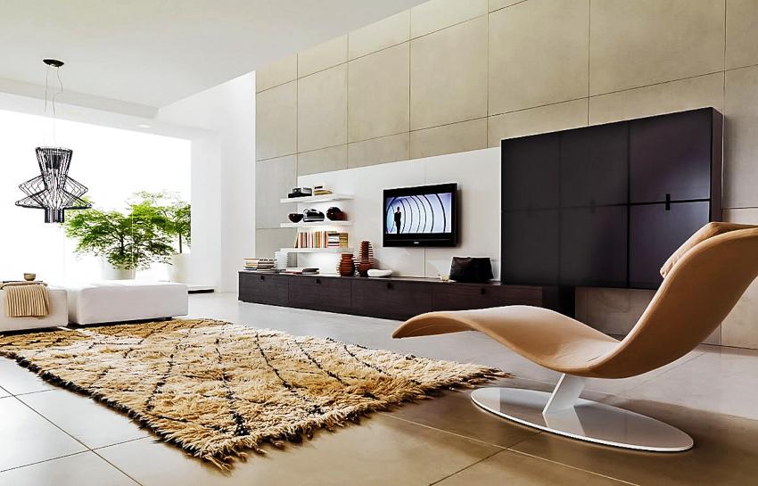 Для помещения в стиле минимализм характерны четкая геометрия и строгие линии