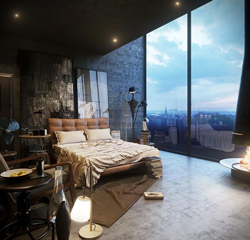 Окна должны быть панорамными, не прикрытыми шторами и занавесками