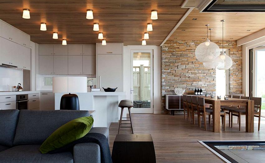 Для помещения в стиле лофт характерно отсутствие стен и перегородок