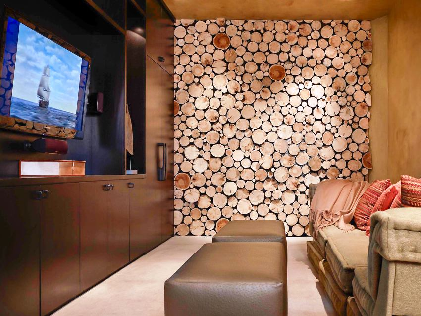 В экостиле применяются для декорирования природные элементы: камни, ракушки, дерево