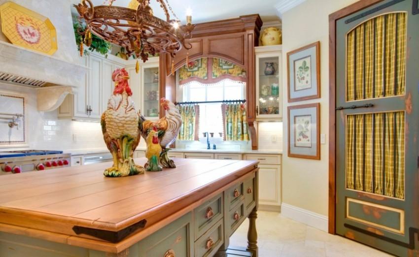 Этнический стиль в мебели кухни привносит необычайную оригинальность и самобытность помещению