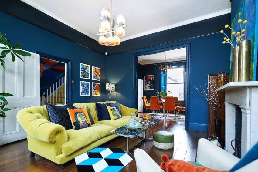 Правильное цветовое оформление гостиной влияет на эмоциональное состояние человека который в ней находится