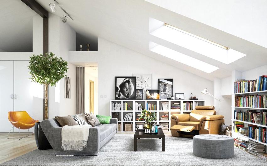 Вариант оформления потолка зависит от размера помещения