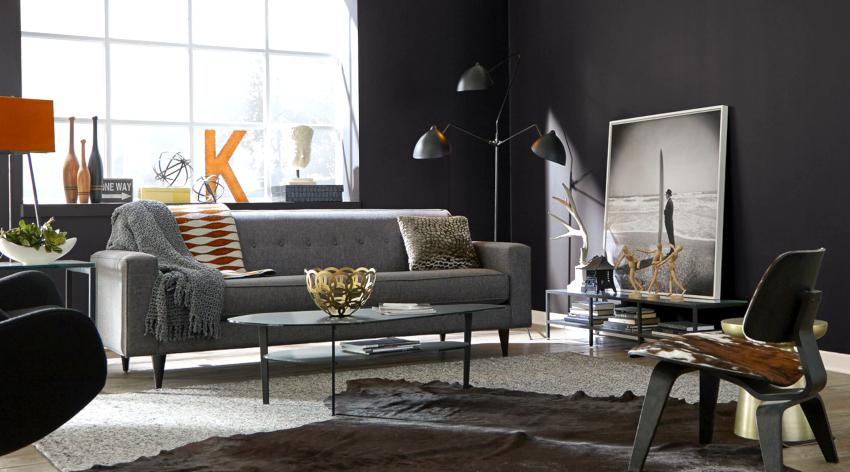 Мебель в гостиную подбирается с учетом габаритов помещения