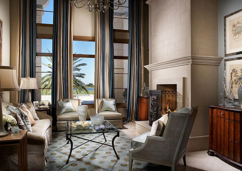 Подбор и сочетание цветов в интерьере гостиной зависят от выбранного стилистического направления
