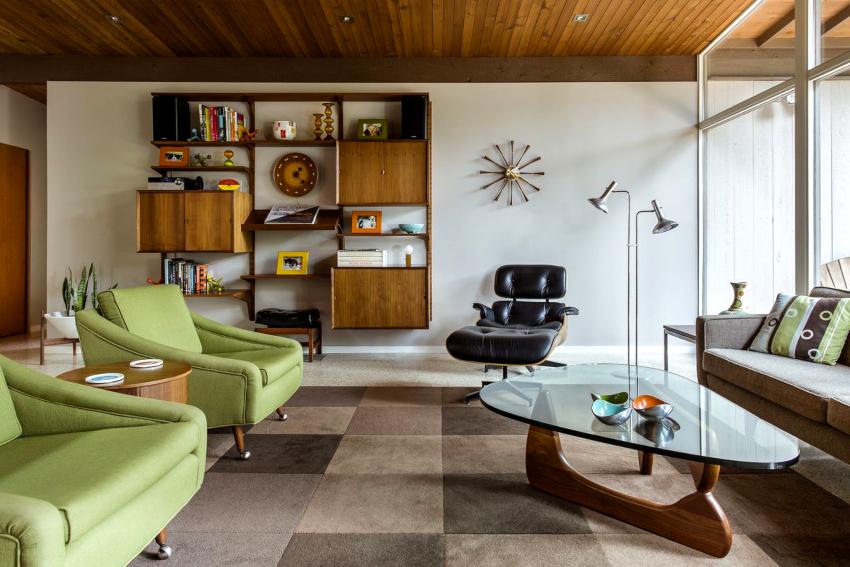 Мебель для гостиной подбирается с учетом выбранного стиля оформления гостиной