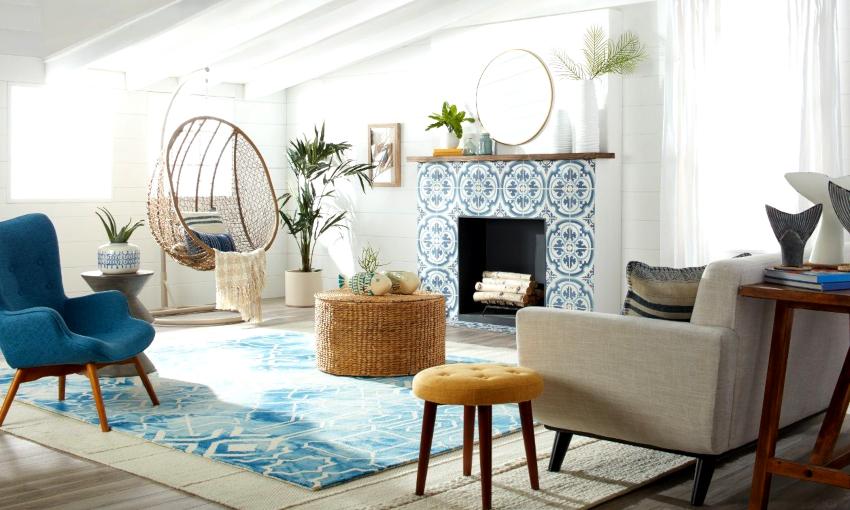 Мебель должна располагаться на расстоянии не менее 1,5 м от камина