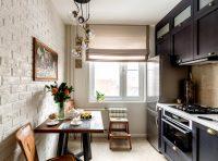 Линейные гарнитуры являются наиболее оптимальными для маленьких кухонь