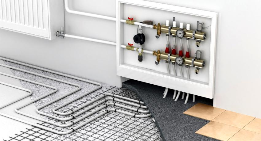 К распределительному коллектору подключаются разные отопительные приборы в виде конвекторов, радиаторов, систем теплого пола