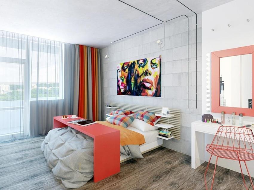 Комната для подростка девочки выполняется, в отличии от мальчиков, в более нежной или яркой цветовой гамме