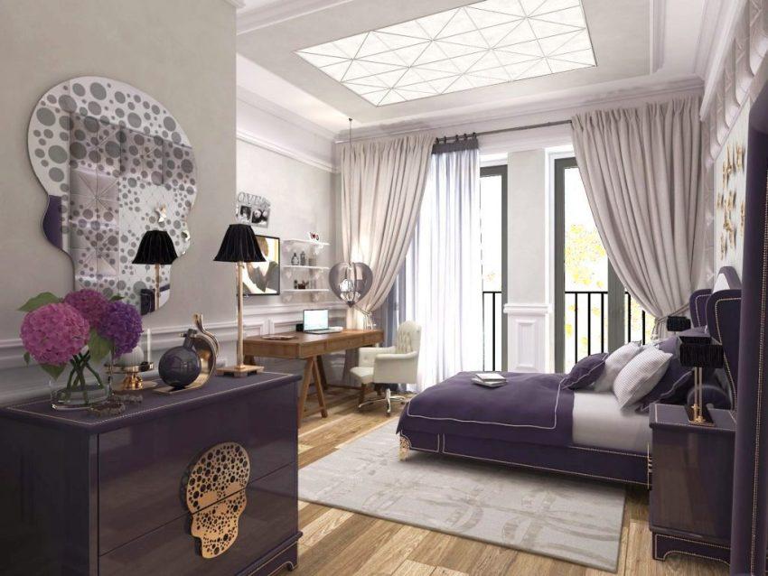Украсить комнату девочки в стиле лофт можно с помощью винтажной мебели