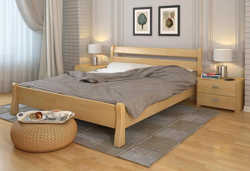 Кровати изготовленные из липы, осины, ели или сосны более доступны в цене