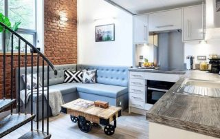 Кухонный уголок со спальным местом: стильная мебель для современной кухни