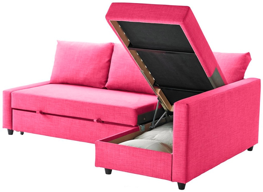 Ящики в уголке можно использовать для хранения постельного белья и разных кухонных принадлежностей