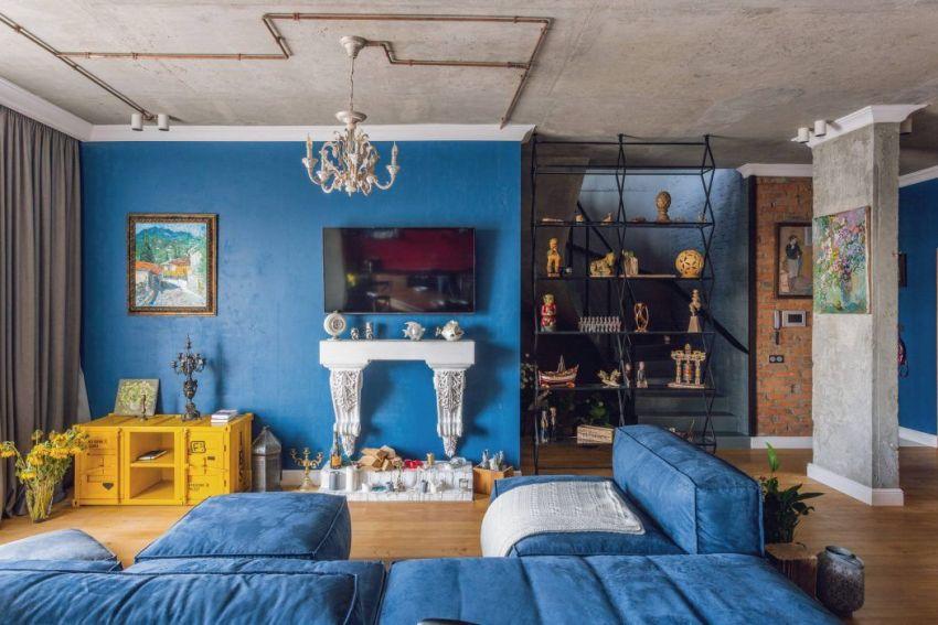 Комната в стиле лофт будет выглядеть наиболее стильной и гармоничной, если каждая стена в интерьере будет оформлена по-своему
