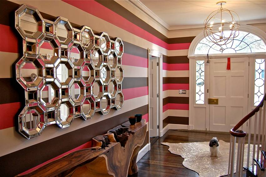 From the variety of commercially available finishes for the hallway most suitable wallpaper