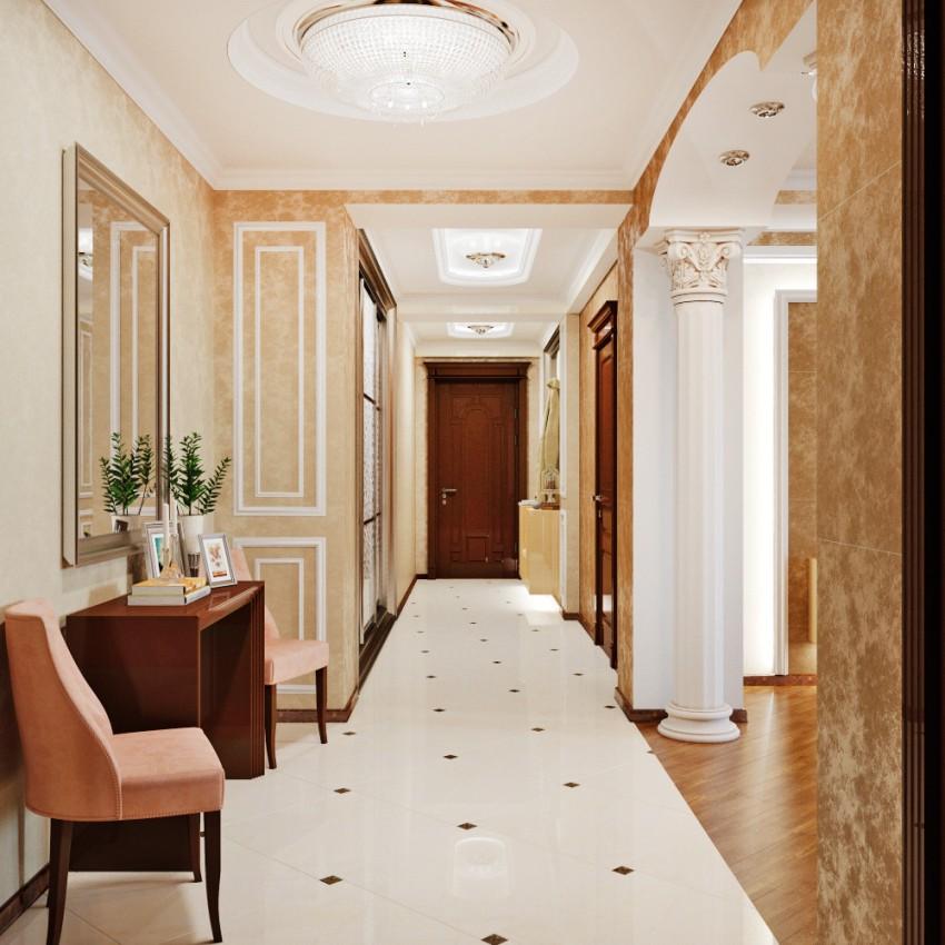 Использование дорогостоящих материалов иногда делает люстру одной из самых дорогих составляющих классического интерьера