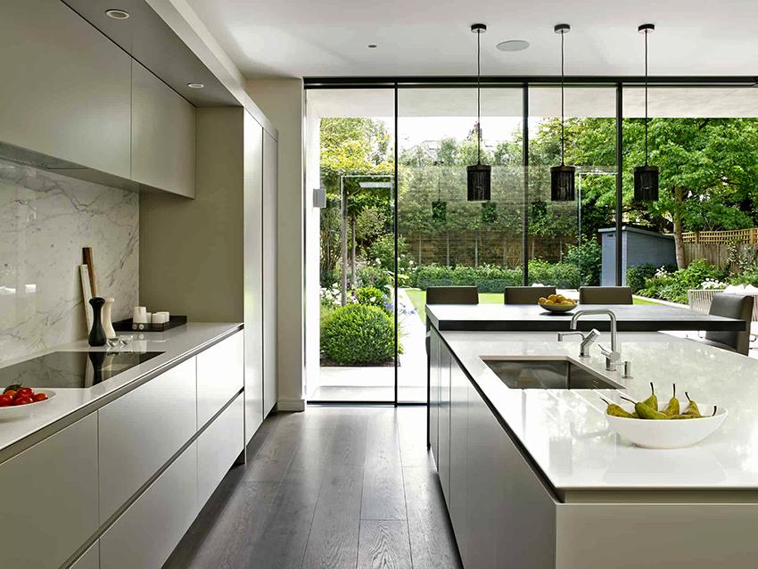 Островная кухня – оптимальный вариант для кухни с большой площадью