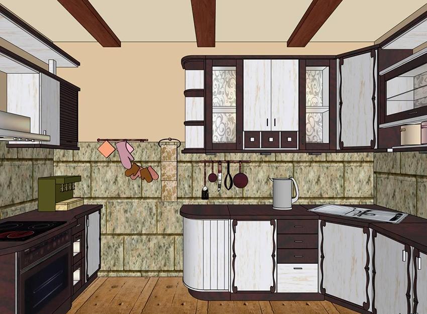 С помощью специальных программ можно создать полноценный 3D дизайн кухни