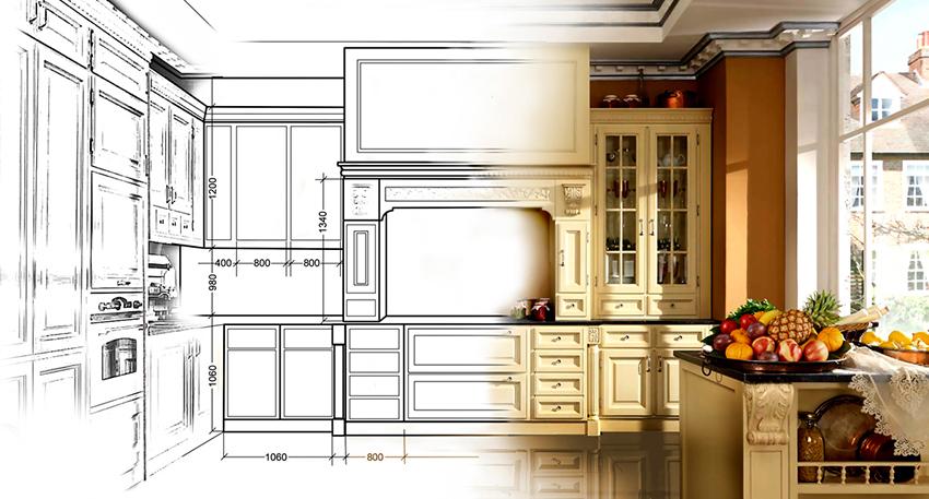 Заранее подготовленный проект поможет получить общее представление о будущей кухне