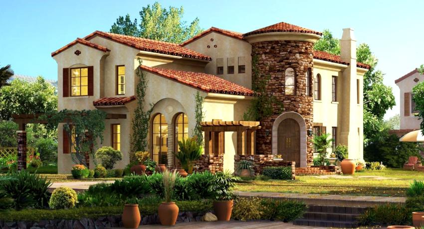 Если площадь дома составляет 150 м² и более, проект здания может не включать мансардного и цокольного этажей