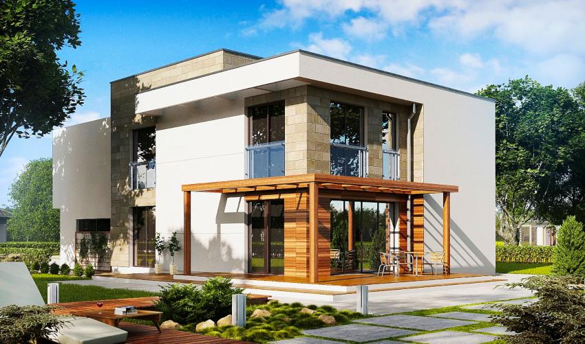 Площади двухэтажного дома 10х10 будет достаточно, чтобы разработать удобную планировку
