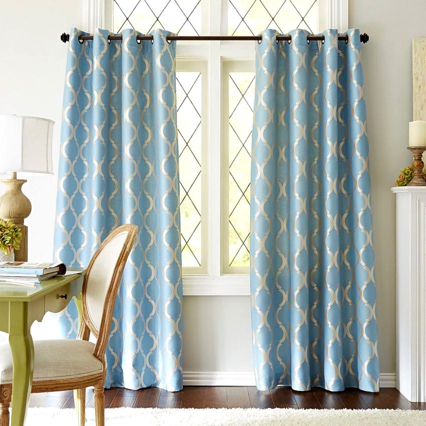 Люверсы являясь крепежным элементом также вносят и декоративность в оформление штор