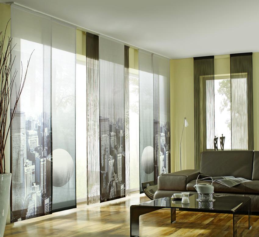Легкие оконные ткани в гостиную - это тюль, органза, шифон