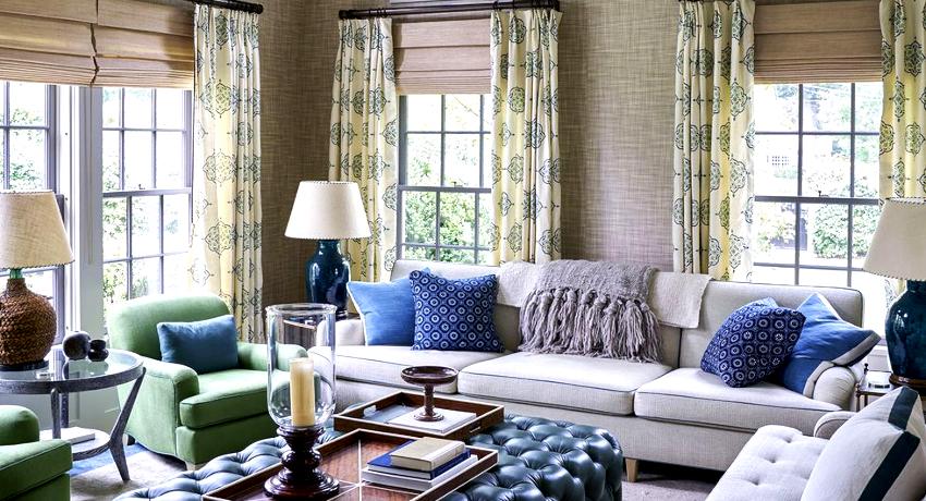 Шторы в гостиную: способы декорирования и соответствие интерьеру