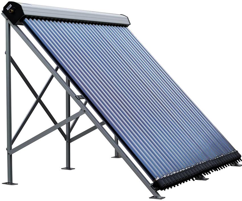 Вакуумный солнечный коллектор – сложное устройство, поэтому стоит он довольно дорого
