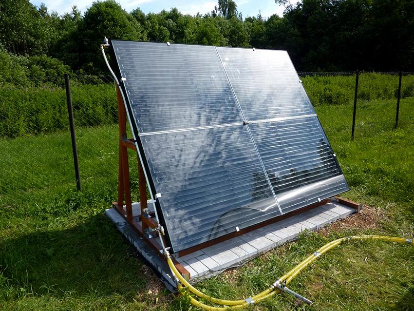 Солнечный коллектор плоского типа можно изготовить собственноручно