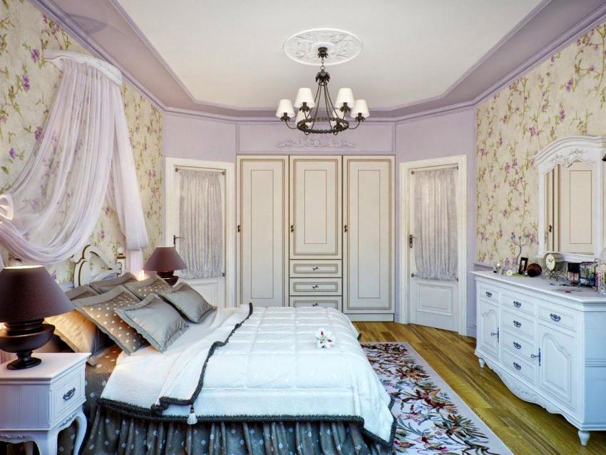 Двери в стиле прованс выполняются в белом цвете, иногда с эффектом потертостей под старину